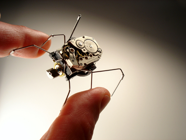 ELECTRIC POWERED ROBOTIC INSECT BY ARTIST CHRISTOPHER CONTE
