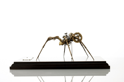 STEAMPUNK INSECT TITLED STEAM II BY ARTIST CHRISTOPHER CONTE